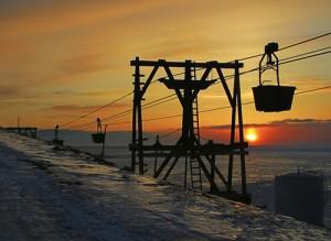Kulltaubane i Longyearbyen på Svalbard